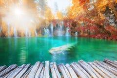 Cachoeiras ensolaradas bonitas imagem de stock royalty free