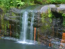 Cachoeiras na angra do lobo Imagem de Stock Royalty Free