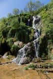 Cachoeiras nos baume-Les-Messieurs imagens de stock
