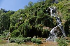 Cachoeiras nos baume-Les-Messieurs foto de stock