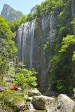 Cachoeiras perto do rio de Xiaofeng imagem de stock royalty free
