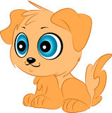 Cachorrinho bonito do vetor dos desenhos animados Fotos de Stock