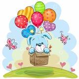 Cachorrinho bonito dos desenhos animados com balões ilustração royalty free