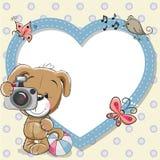 Cachorrinho com quadro do coração ilustração stock