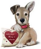 cachorrinho de 100 corações Foto de Stock Royalty Free