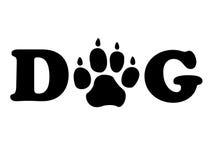 Cachorrinho de Paw Shows Pedigree Canine And dos cães ilustração stock