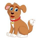 Cachorrinho de sorriso dos desenhos animados, ilustração do vetor de bonito Fotografia de Stock Royalty Free