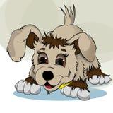 Cachorrinho do rapaz pequeno ilustração royalty free
