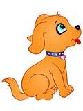 Cachorrinho dos desenhos animados que olha acima Fotografia de Stock Royalty Free