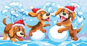 Cachorrinhos do ` s do ano novo Foto de Stock