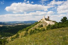 cachtice城堡废墟 库存照片