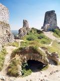 Cachtice城堡的地下墓穴  免版税图库摄影