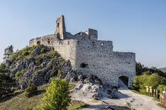 Cachtice castle ruins, Slovakia. Cachtice castle ruins, Slovak republic, central Europe. Seat of bloody countess. Travel destination stock images