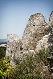 Cachtice castle ruins in summer, Slovak republic Royalty Free Stock Image