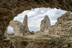 Cachtice castle, Slovakia royalty free stock images