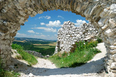 Cachtice ruins Royalty Free Stock Photography