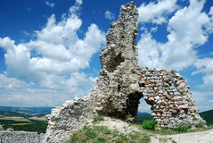 Cachtice ruins Royalty Free Stock Photo