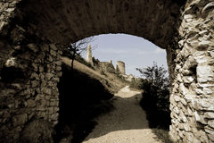 Cachtice Schloss stockfotos
