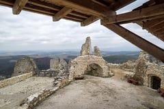 Cachtice slott, Slovakien Royaltyfria Foton
