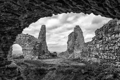 Cachtice slott, Slovakien Arkivbilder