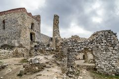 Cachtice slott, Slovakien Royaltyfri Bild