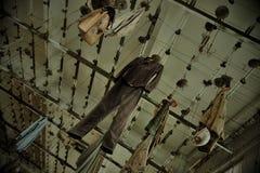 Cacifos no quarto de mudança Fotos de Stock