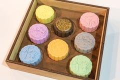 Cacks colorés de lune image libre de droits