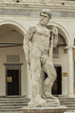 Caco statue. In Freedom Square in Udine Italy Royalty Free Stock Photos