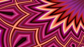 Cacophony, widescreen. Widescreen of extreme colour and spiky banded shapes coming in from top right royalty free illustration