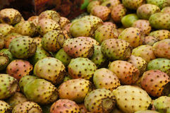 Cactaceous fig fruits in a Fez market Stock Photos