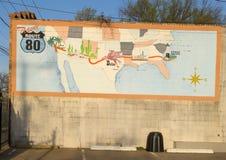 Cactexmuurschildering, Bischop Arts District, Dallas, Texas Stock Afbeeldingen