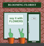 Cacti. Say it with flowers florist with rude cacti Royalty Free Stock Photo