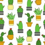 Cacti seamless pattern royalty free illustration