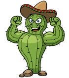 Cacto do mexicano dos desenhos animados Imagem de Stock Royalty Free