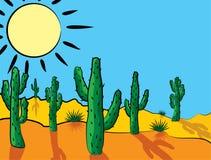 Cacto en desierto