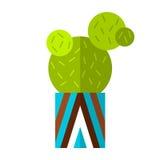 Cacto, planta carnuda Ícone liso da cor, ilustração da planta em pasta isolada no fundo branco objeto Imagens de Stock