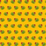 Cacto - teste padrão 24 do emoji ilustração stock