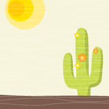 Cactus. Been stylized sun and cactus Royalty Free Stock Image