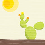 Cactus. Been stylized sun and cactus Royalty Free Stock Photos
