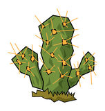 Cactus. Simple illustration for a green desert cactus Stock Images