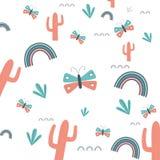Cactus achtergrondontwerp royalty-vrije illustratie