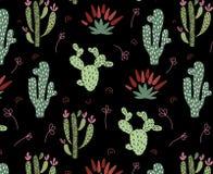 Cactus africano sveglio illustrazione di stock