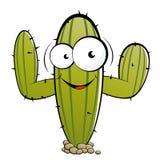 Cactus cartoon character. An illustration or cartoon of a cactus character with big eyes Royalty Free Stock Photos