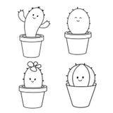 Cactus cartoon Stock Photos
