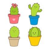 Cactus cartoon Royalty Free Stock Images