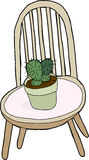 Cactus On Chair Stock Images