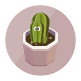 Cactus cute character Stock Images
