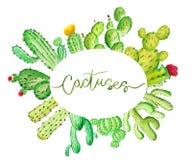 Cactus d'aquarelle Photographie stock