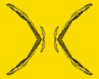 Cactus dans le résumé, fond jaune vibrant image libre de droits