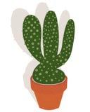 Cactus dans un flowerpot illustration stock